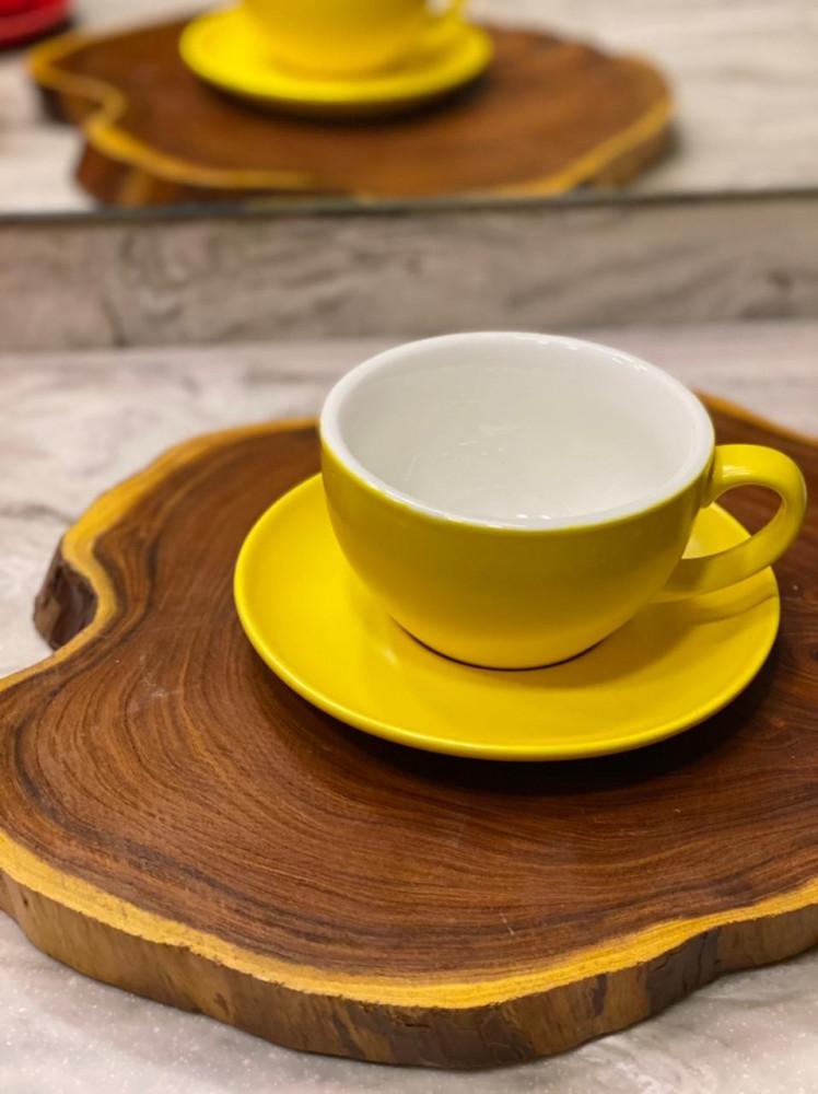 كوب اكمي لاتيه اصفر latte yalo