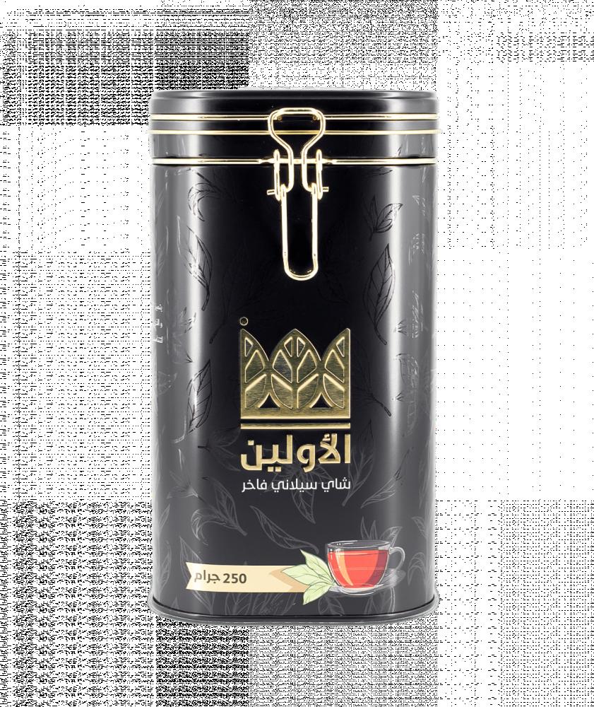شاي الاولين ورق فاخر علبة معدنية 250 جرام