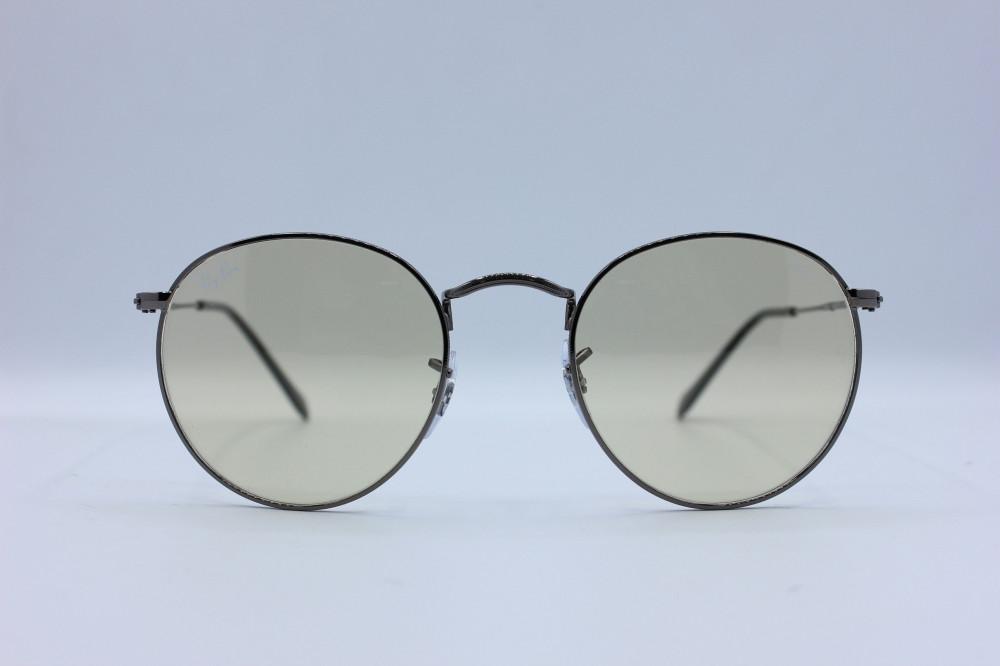 نظاره شمسية دائرية من ماركة  RAY BAN  لون العدسة عسلي بخاصيه ال RB 344