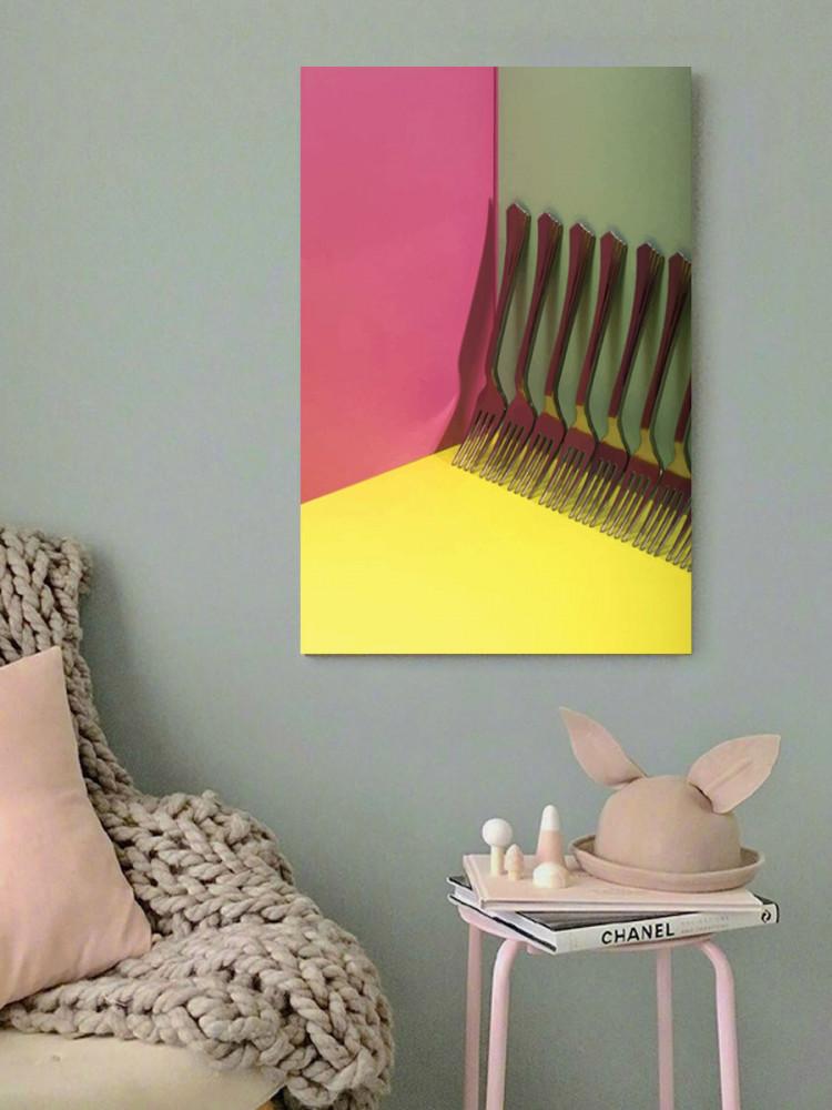 لوحة شوكة الطعام خشب ام دي اف مقاس 40x60 سنتيمتر