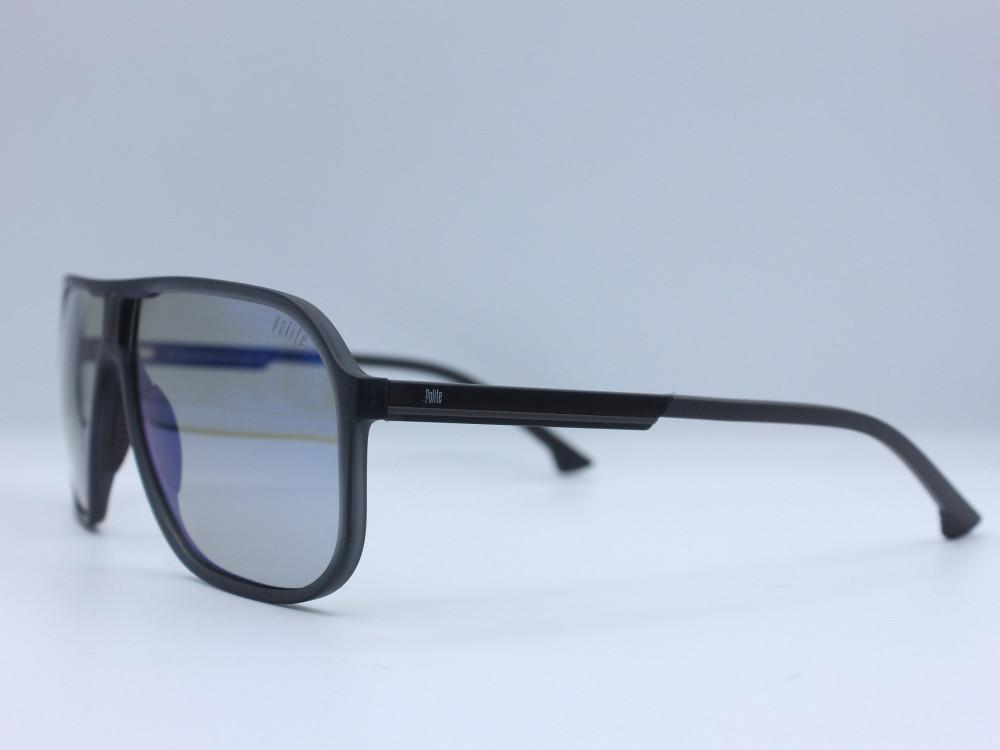 نظارة شمسية ماركة POLITE رجالية لون العدسة رمادي لون الإطار رمادي مطفي