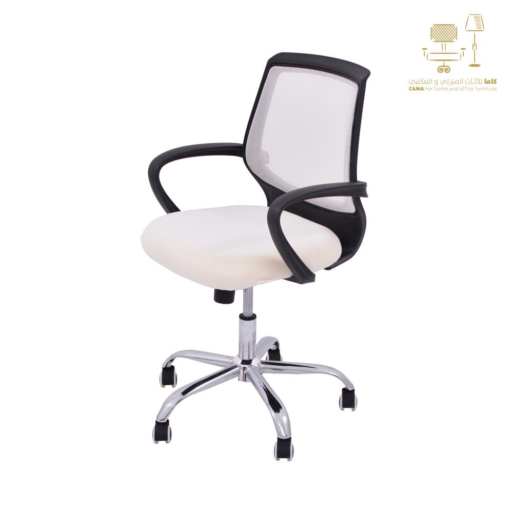 كرسي مكتبي ظهر شبك ابيض YA-66WHITE