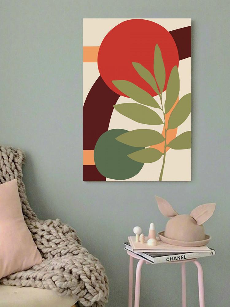 لوحة فن تجريدي خشب ام دي اف مقاس 40x60 سنتيمتر
