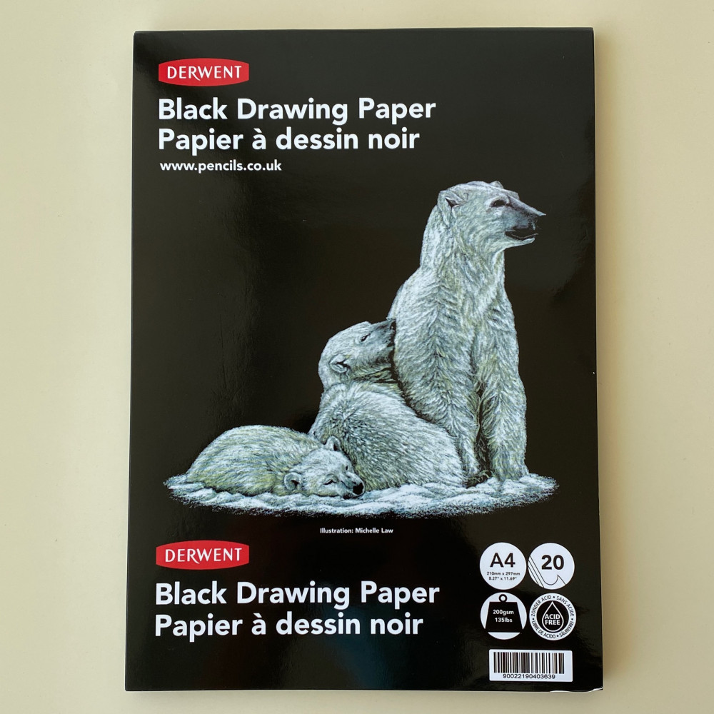 Derwent Black drawing paper