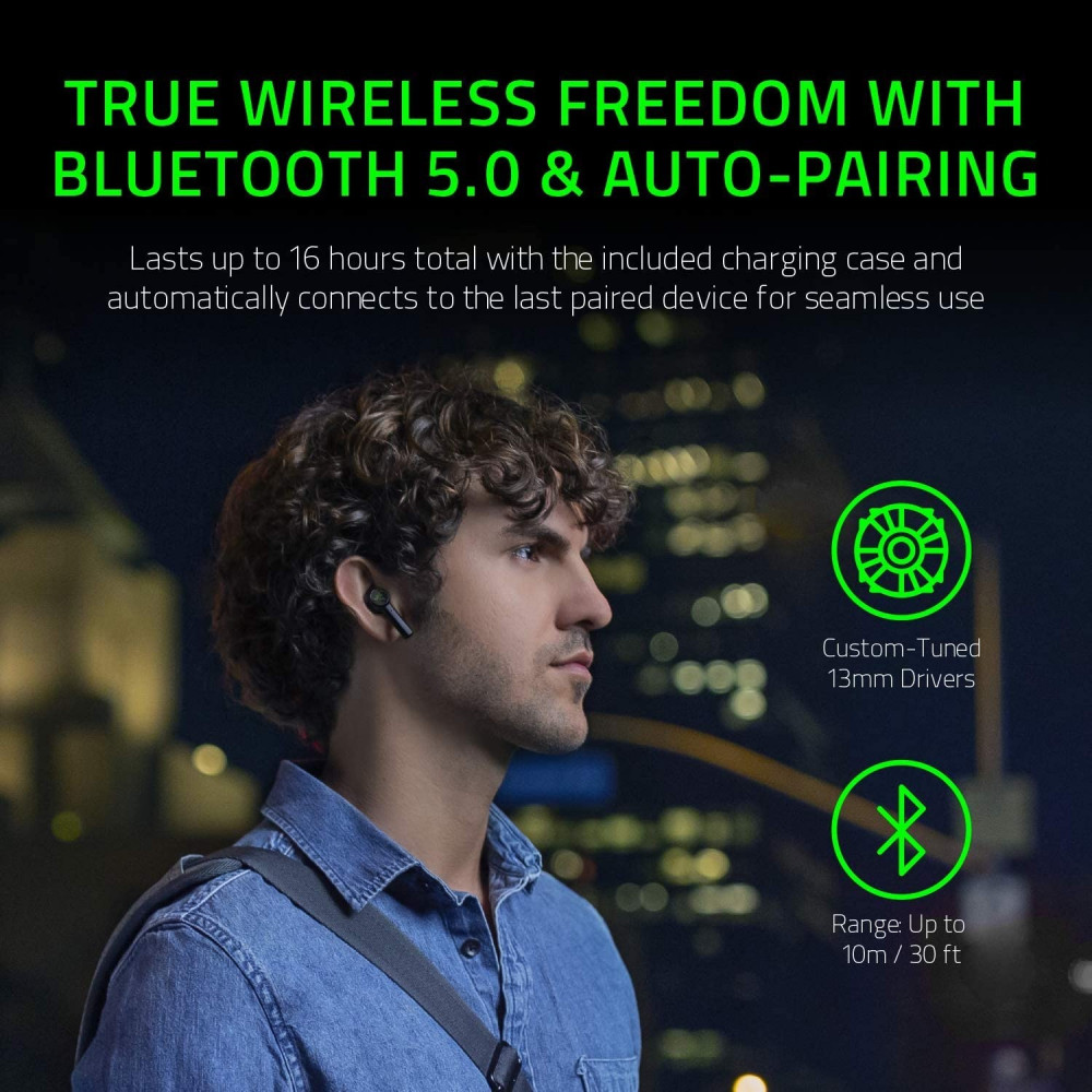 Razer Hammerhead True Wireless Bluetooth Earbuds