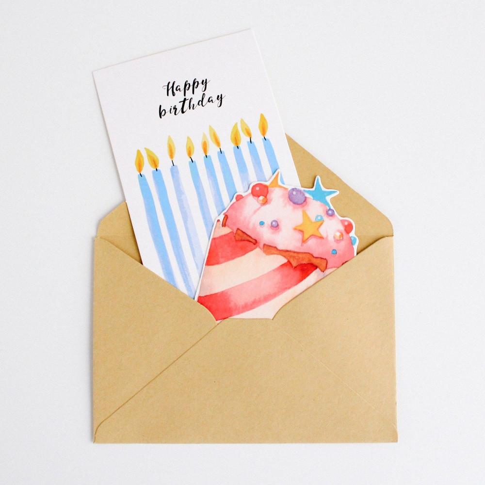 بطاقات هدية عيد الميلاد كيك Happy Birthday متجر هدايا شموع عيد الميلاد