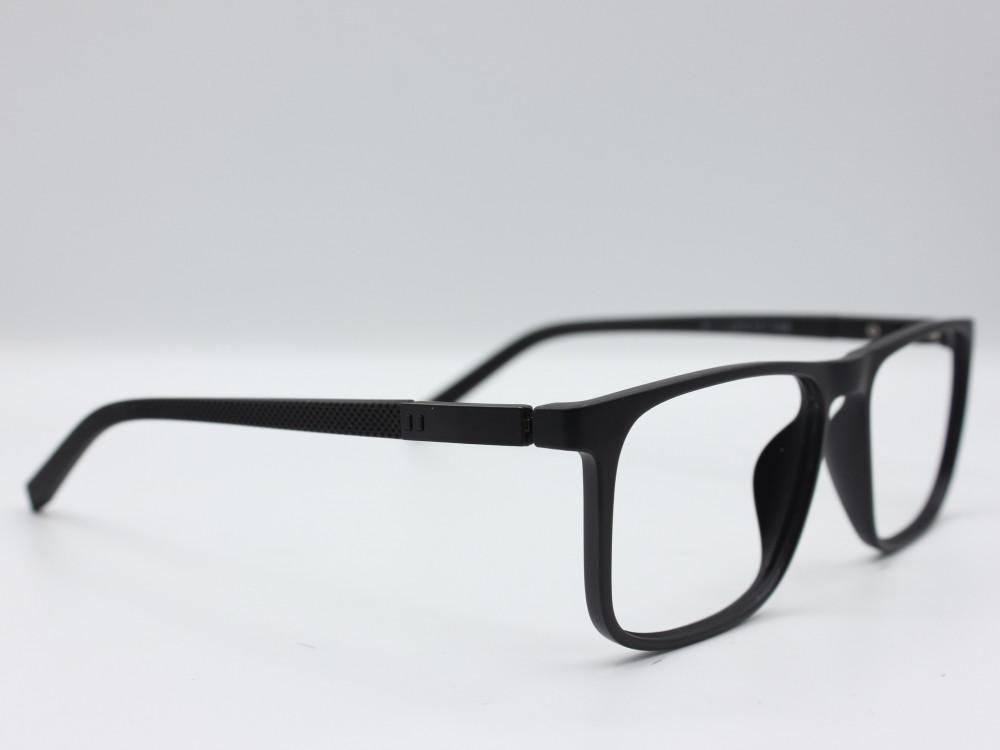 نظارة طبية من ماركة T بتصميم مربع عدسات بحماية لون الاطار اسود رجاليه