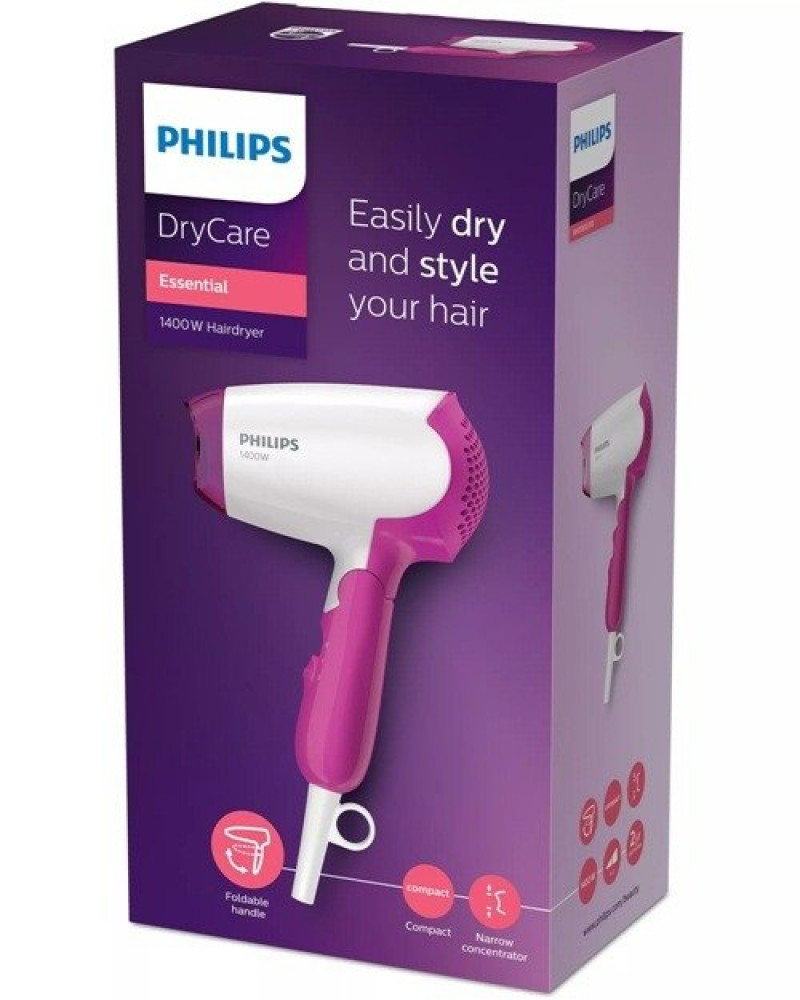 فيليبس مجفف شعر سفري 1400 واط Philips BHD003 Drycare Essential