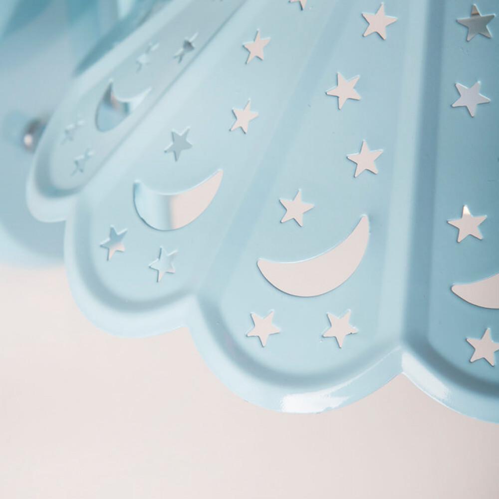 اضاءة غرف اطفال اولاد شكل مظلة مزخرفة, ازرق - فانوس