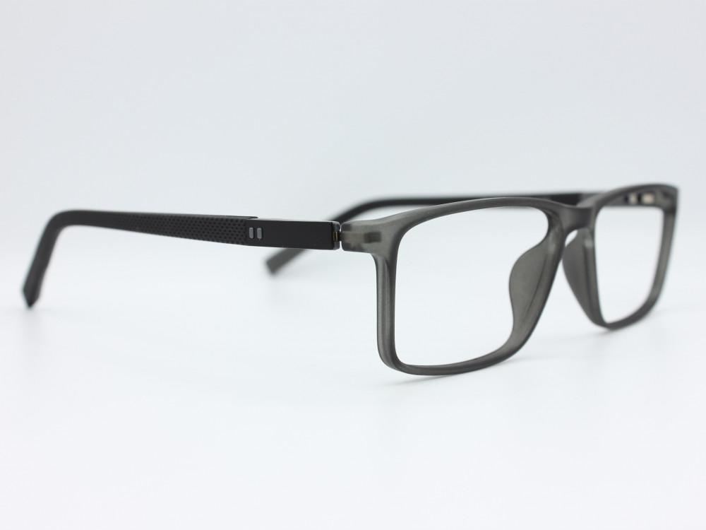 نظارة طبية رجاليه من ماركة T مستطيلة مع عدسات بحماية لون الاطار اسود x