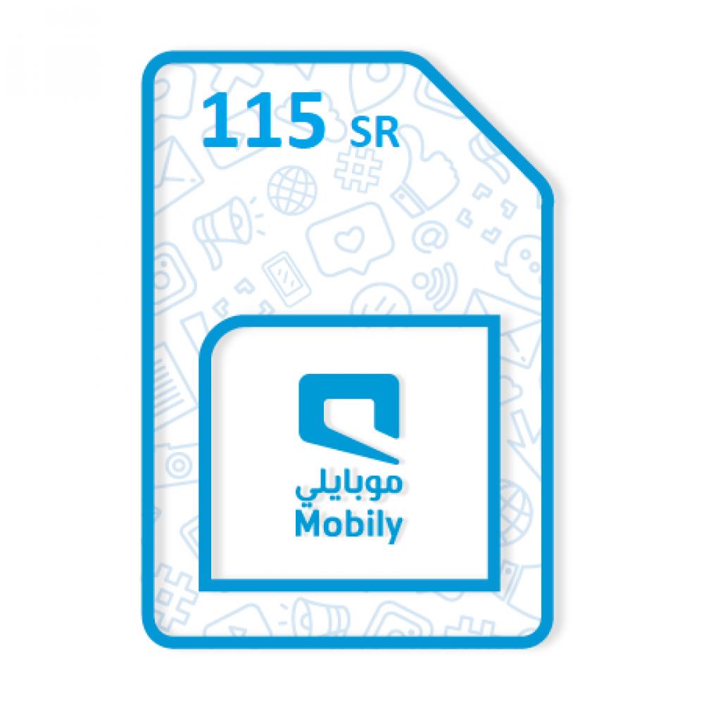 موبايلي مسبق الدفع 115 Mobily Prepaid السعر يشمل 15 ضريبة القيمة المضافة متجر البطاقات
