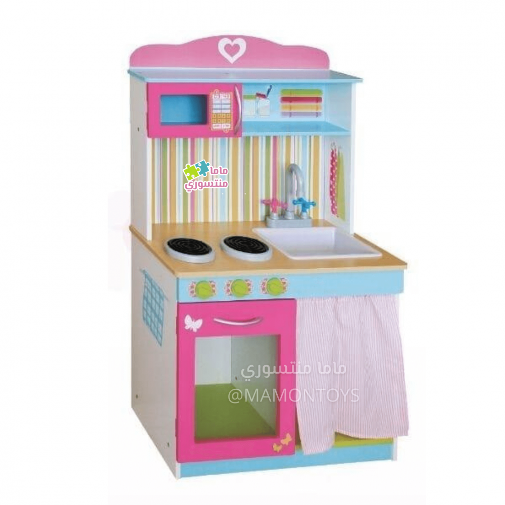 ماما منتسوري العاب اطفال مطبخ خشبي