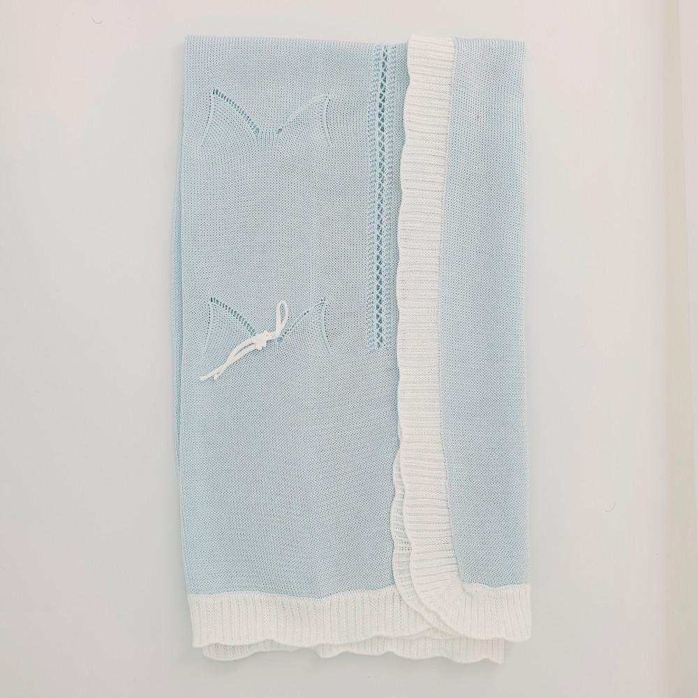 بطانية باللون السماوي من ماركة Marlu من دوها
