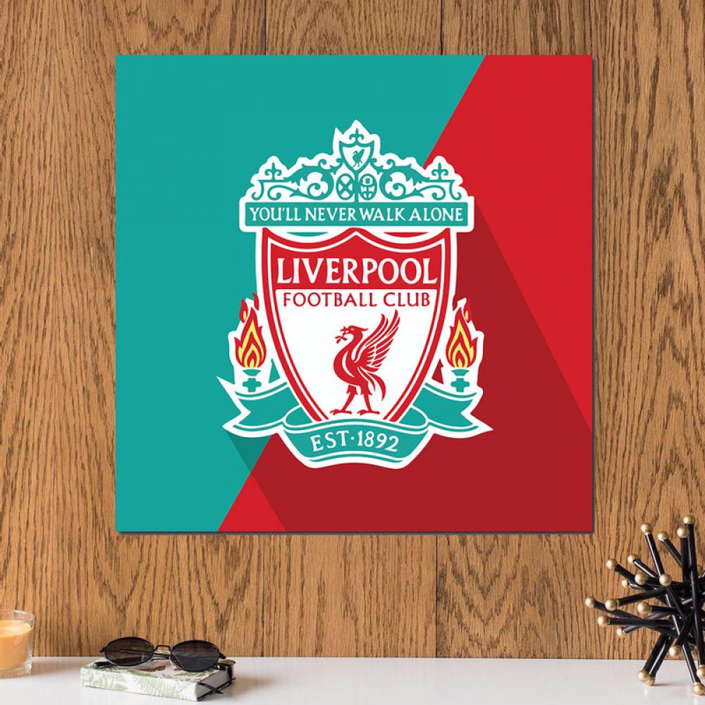 لوحة نادي ليفربول الانكليزي خشب ام دي اف مقاس 30x30 سنتيمتر