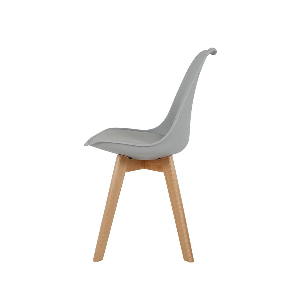 رؤية جانبية للكرسي في طقم كراسي نيت هوم رمادي فاتح من ديل يوتريد