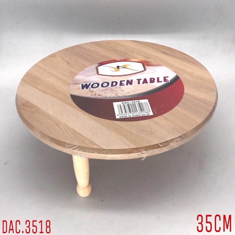 طاولة فرد عجين خشبي مدور مقاس 35 سم 3 قواعد متجر ابداع المائدة