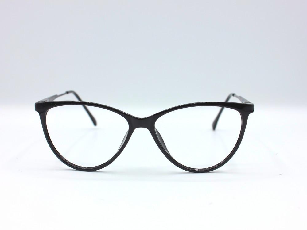 نظارة طبية من ماركة T بتصميم دائري عدسات بحماية لون اسود وذهبي للنساء