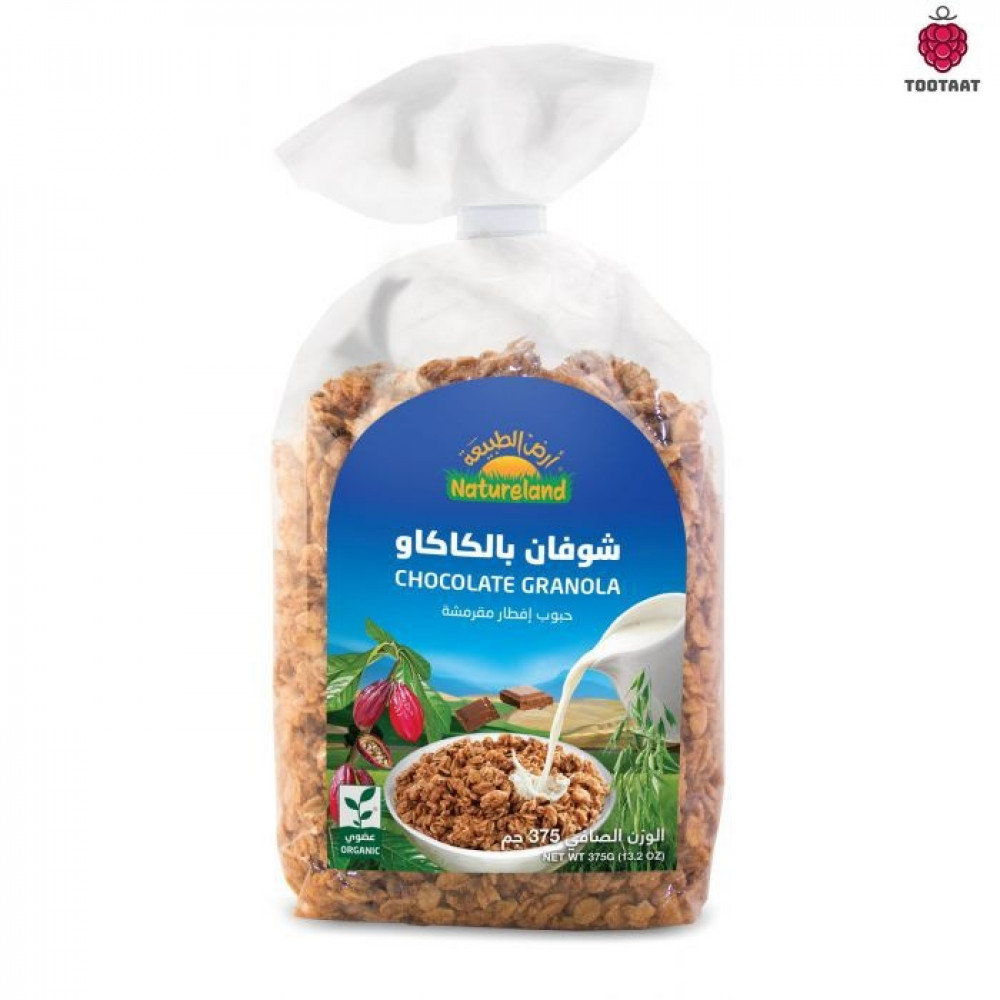 شوفان بالكاكاو 375 جم Natureland Chocolate Granola Tootaat