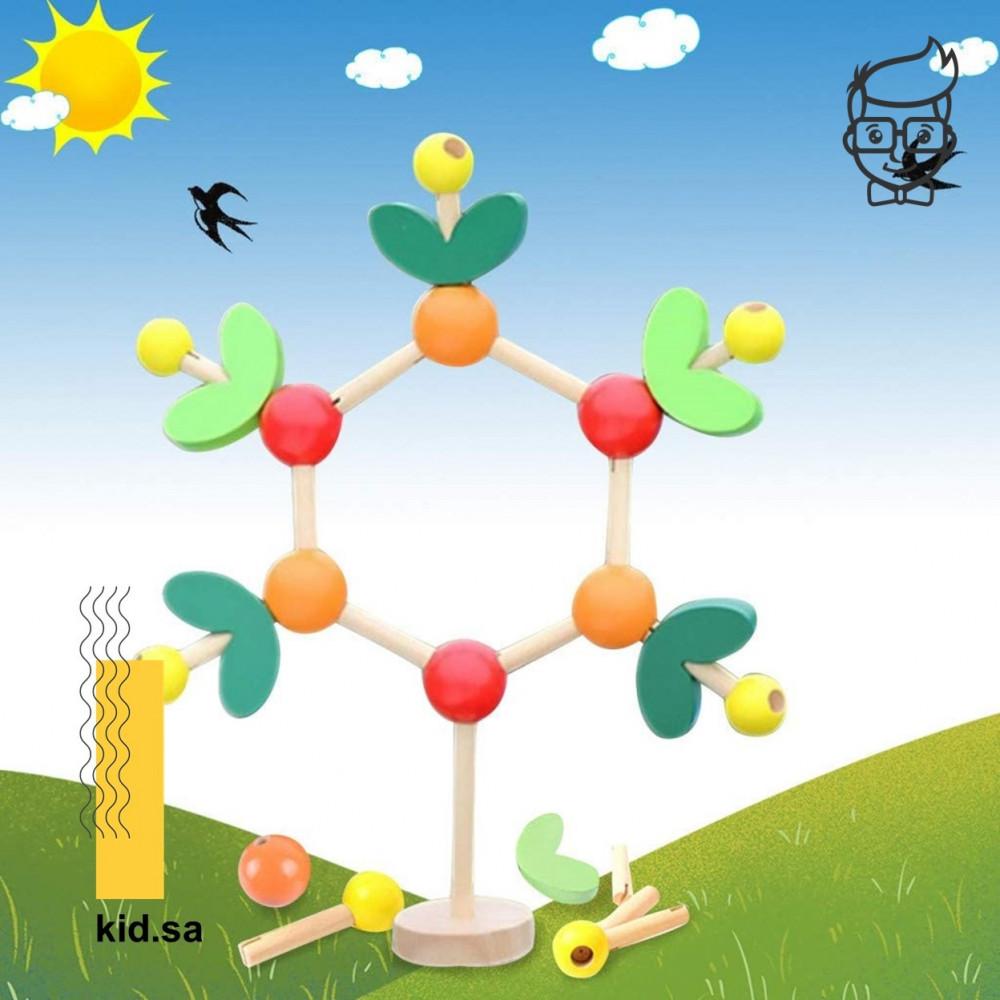 لعبة صناعة شجرة خشبية للاطفال
