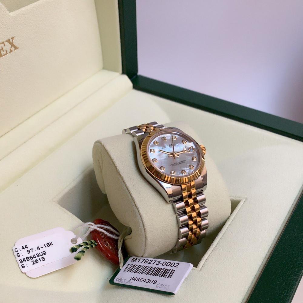 ساعة رولكس ديت جست ستيل مع ذهب أصفر الأصلية