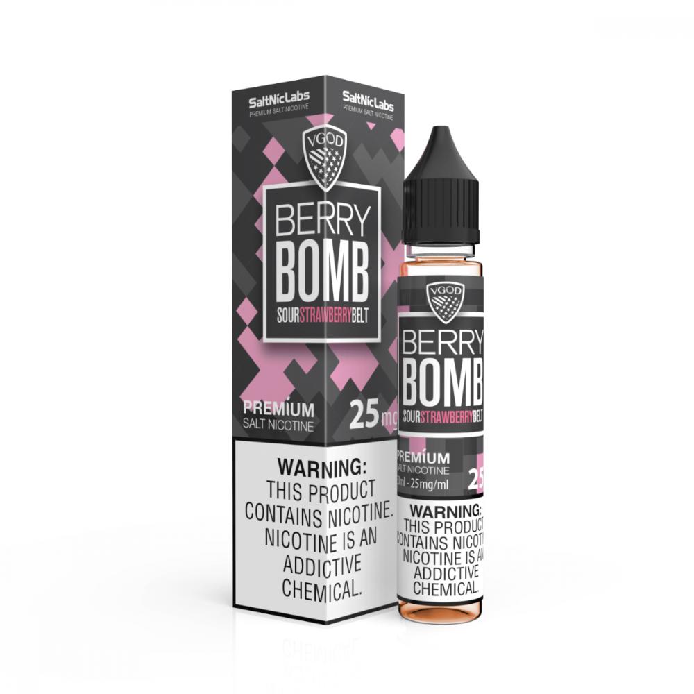 نكهة فيقود بومب بيري فراولة سولت نيكوتين - VGOD Berry Bomb - Salt Nico