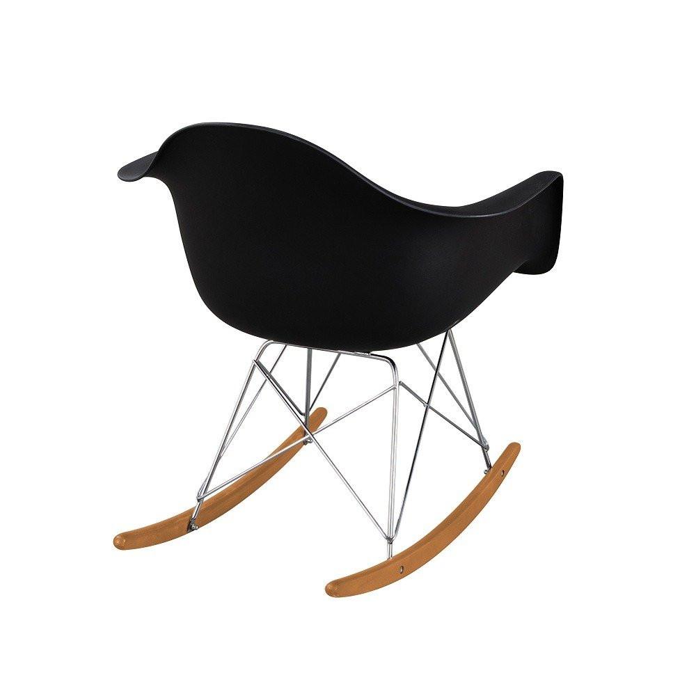 أرجل خشبية هزاز جميل باللون الأسود في طقم كراسي موديل نيت هوم يوتريد