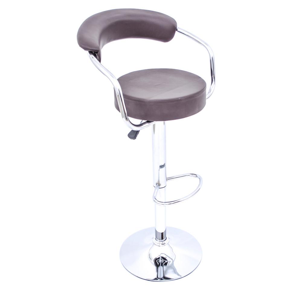 كرسي بار جلد بني من كاما  C-8007BROWN