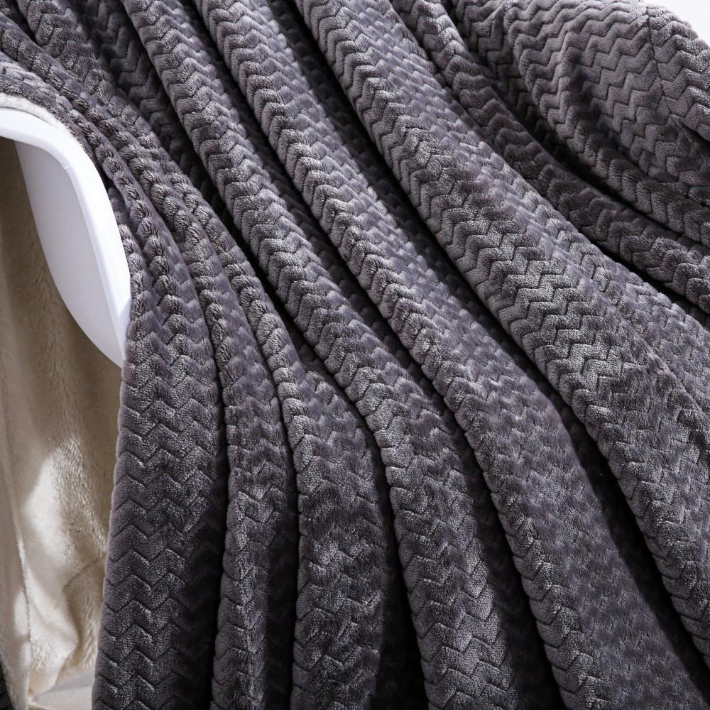 بطانية تاميلون فرو ساده رمادي