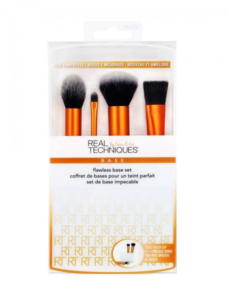 مجموعة فرش المكياج الأساسية من ريل تكنيك  4 قطع -Piece Make-Up Brushes