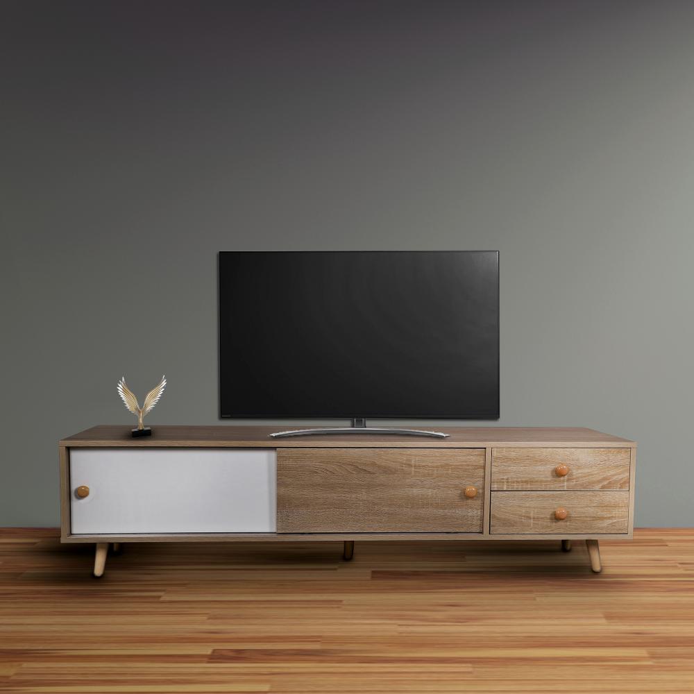 متجر مواسم طاولة التلفاز الخشبية المميزة موديل سمات بعد التركيب