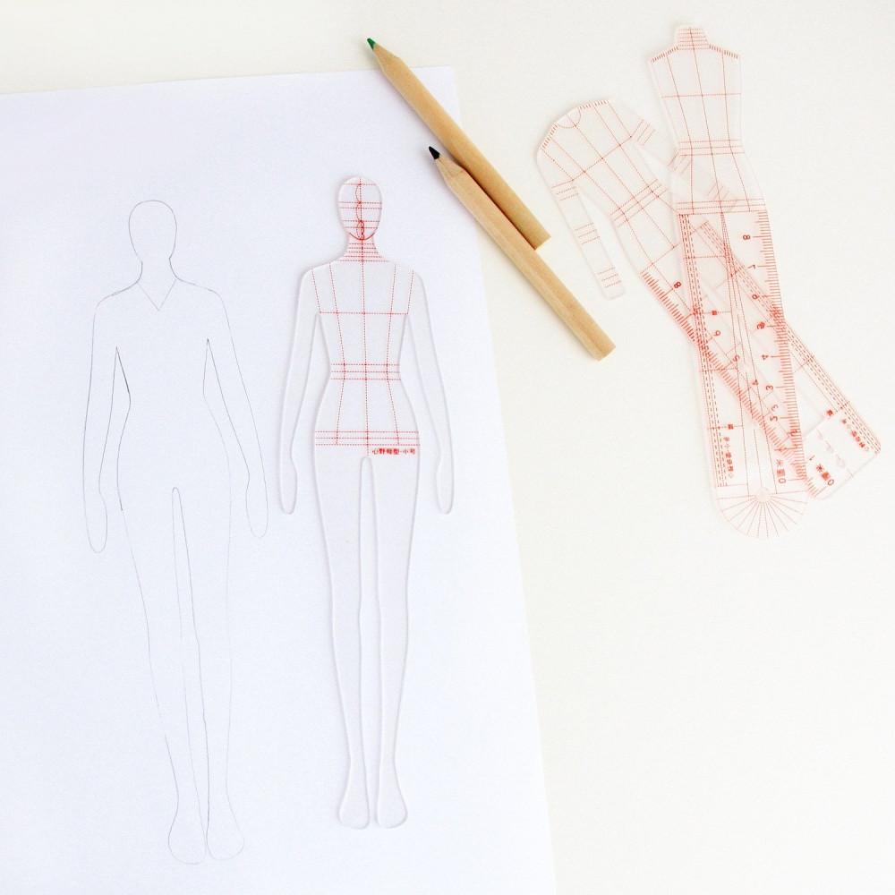 مجال تصميم الأزياء مانيكان للرسم طريقة رسم المانيكان اساسيات التصميم