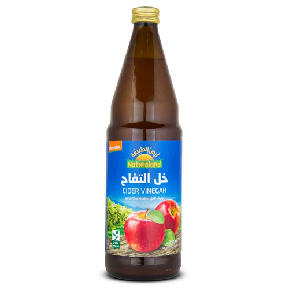 خل التفاح غير المفلتر عضوي 750 مل
