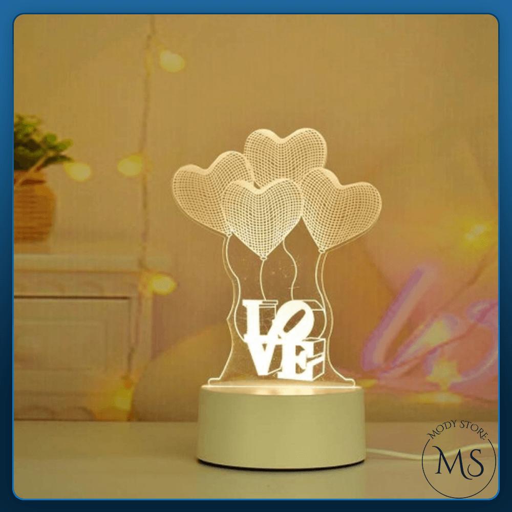 مصباح إضاءة ليلي ثلاثي الابعاد  Love