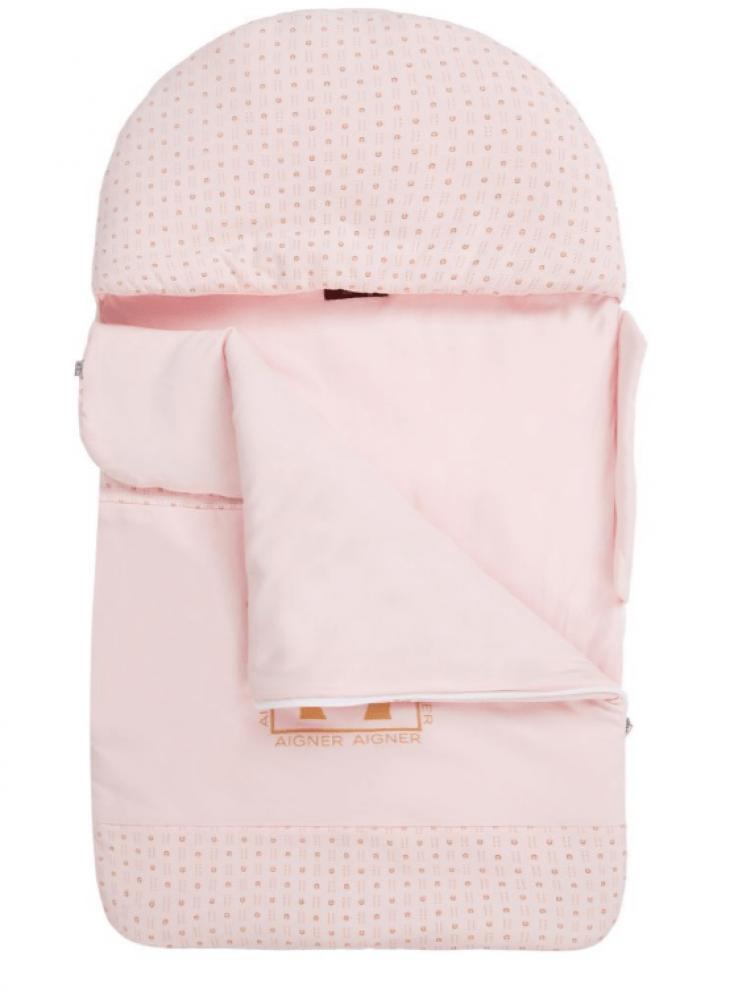 غطاء واقي من البرد لحديثي الولادة باللون الزهري من ماركة  Aigner دوها