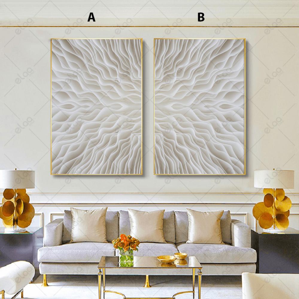 لوحات جدارية فن مجردة ماكرو نبات الفطر