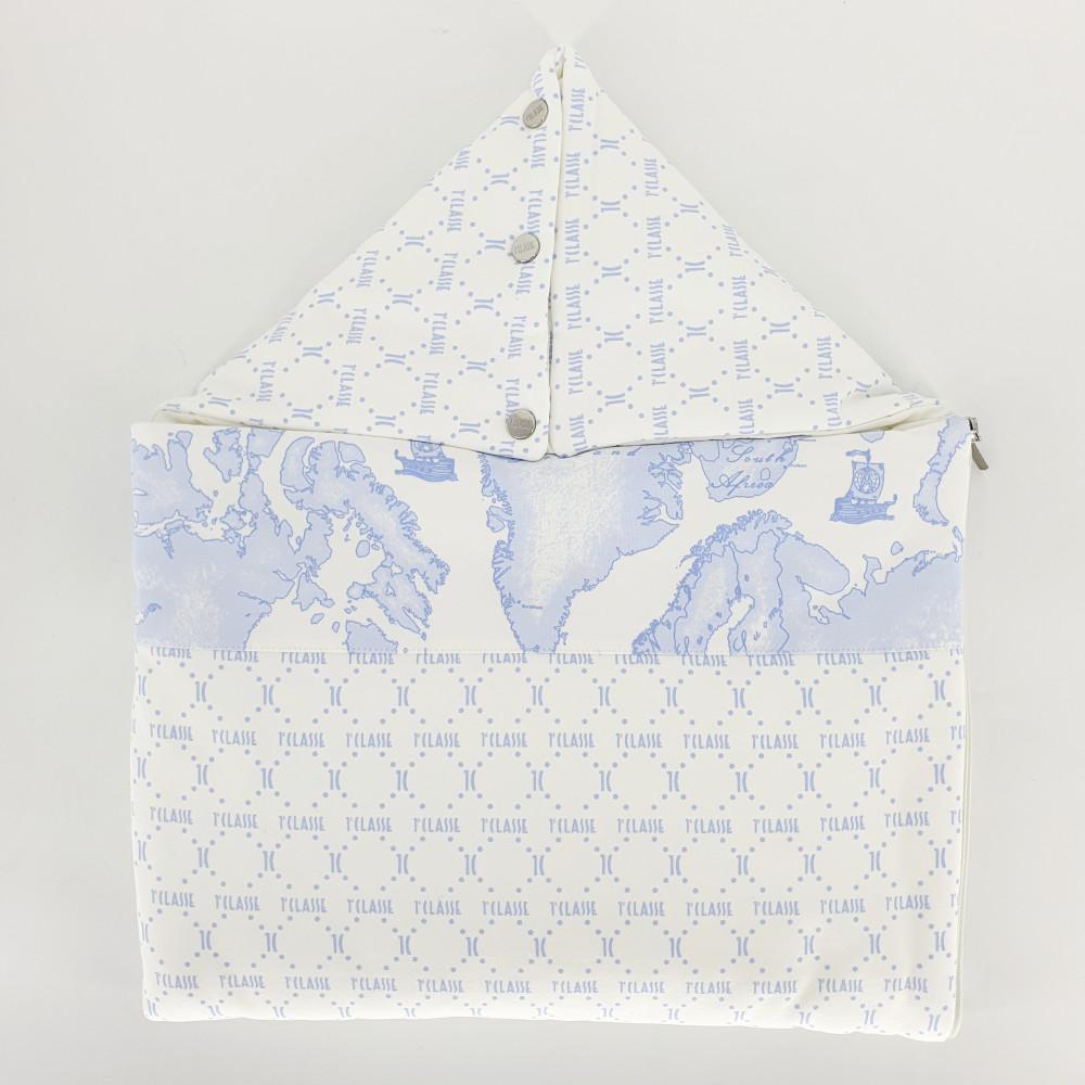غطاء واقي من البرد باللون السماوي  لحديثي الولادة  من ماركة  Alviero M
