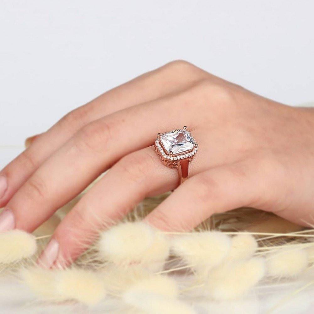 خاتم فضة نسائي