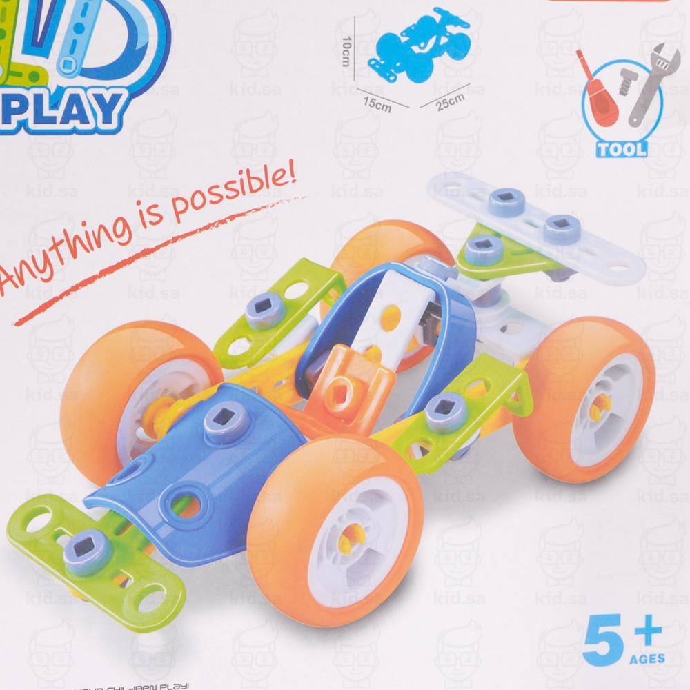لعبة تعليم الاطفال التركيب الهندسي لصناعة سيارة