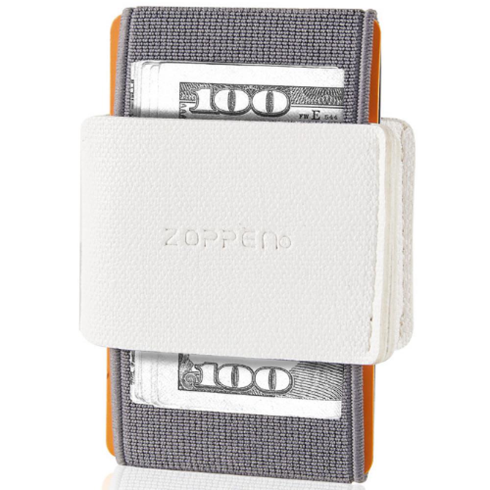 محفظة بطاقات Zoppen الرفيعة والمرنة - ابيض - متجر أصلي