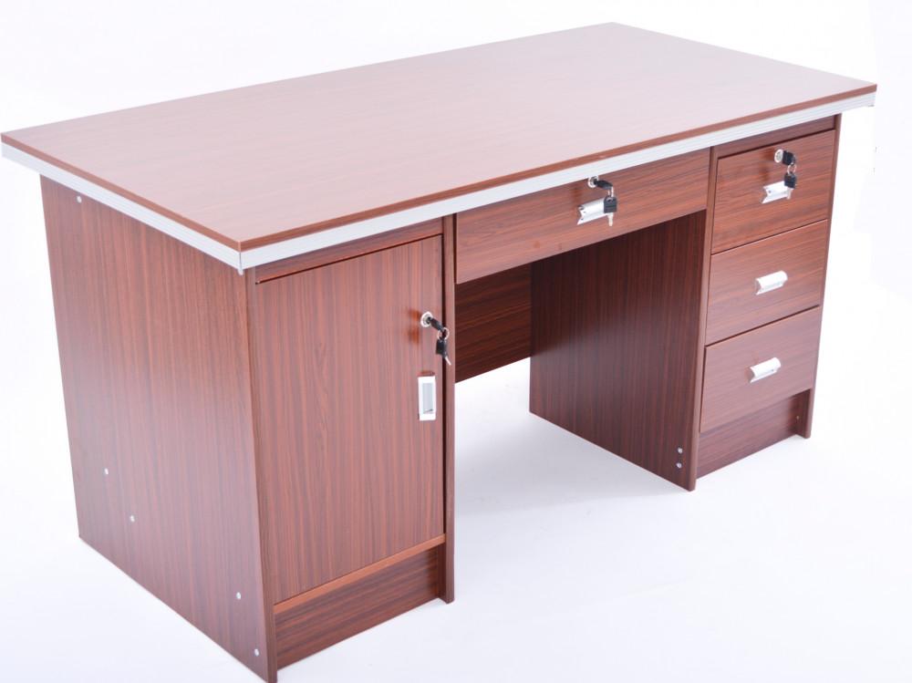 مكتب اداري 140 سم Red brown -109