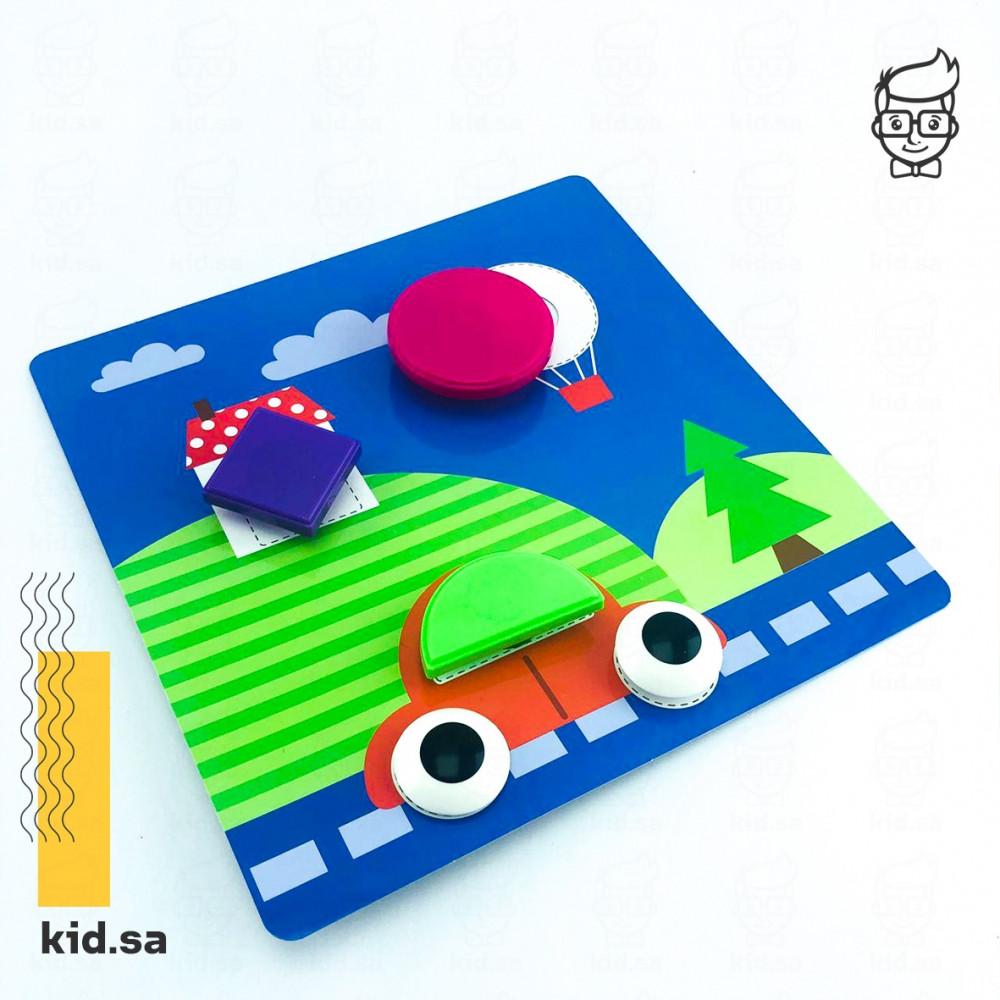 لعبة حلوة للاطفال تركيب الاشكال الملونة