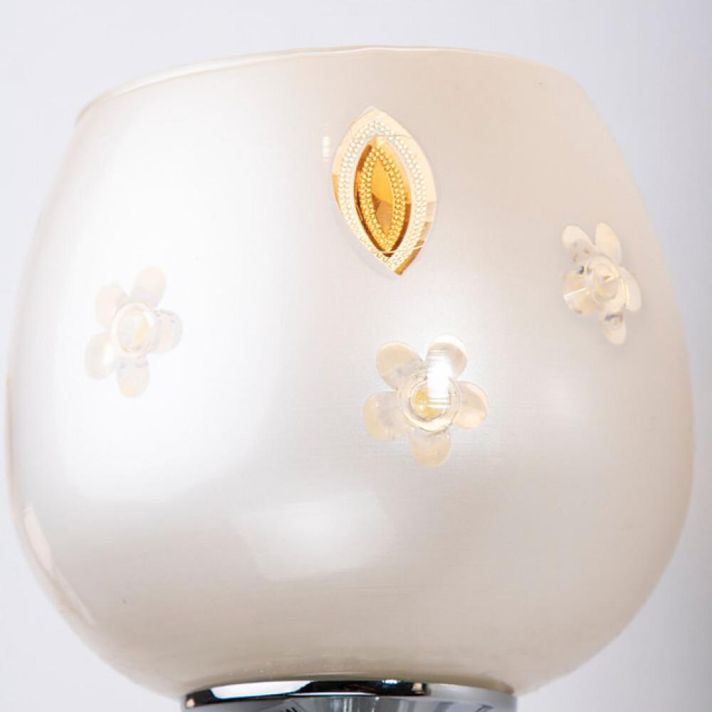 إضاءة جدارية داخلية زجاج مفرد بزخرفة كرستال - فانوس
