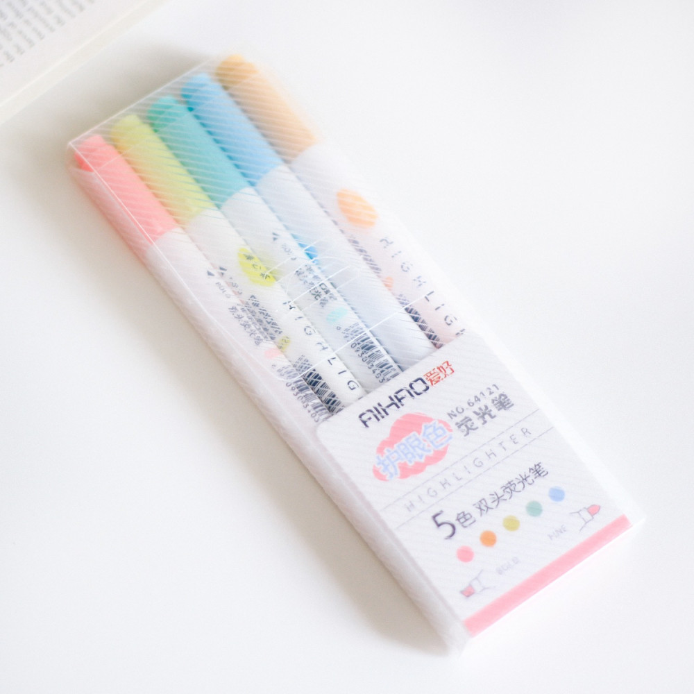 أقلام مدرسية هايلايتر أقلام تحديد أدوات مكتبية طريقة المذاكرة
