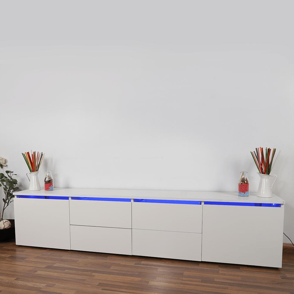 طاولة تلفاز ماركة NEAT HOME خشبية مطلية بالميلامين مقاوم للخدوش مواسم