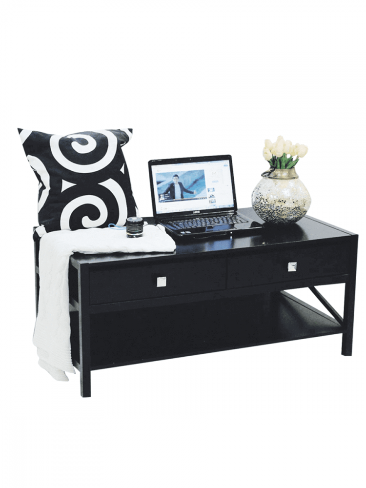 طاولة خشب متعددة الاستخدام موديل  Neat Home بدرجين ورف لغرفة الجلوس