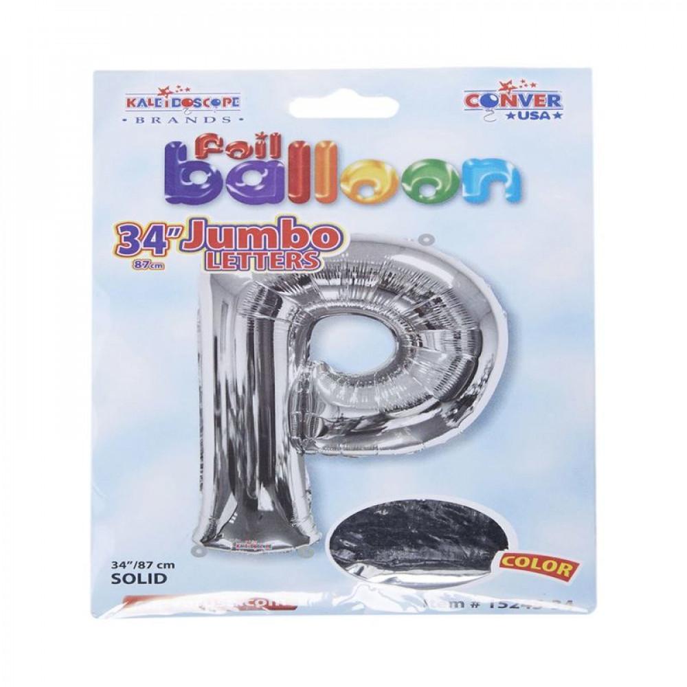 بالون فضي, Silver Balloon, بلونات أحرف, بالون حرف P