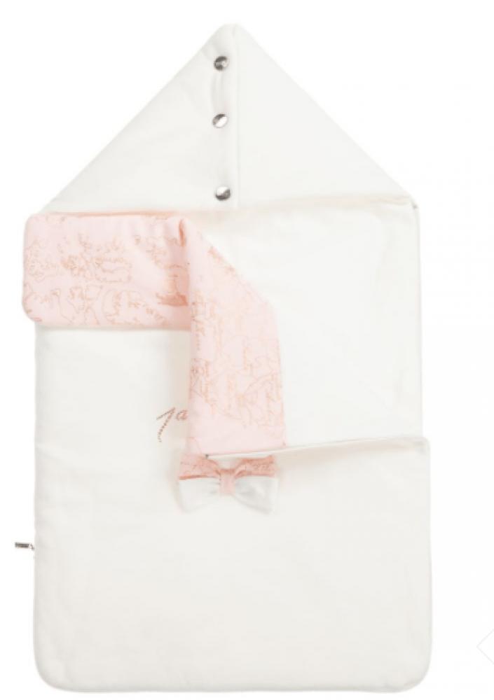 غطاء واقي من البرد لحديثي الولادة  باللون الزهري من ماركة  Alviero Mar