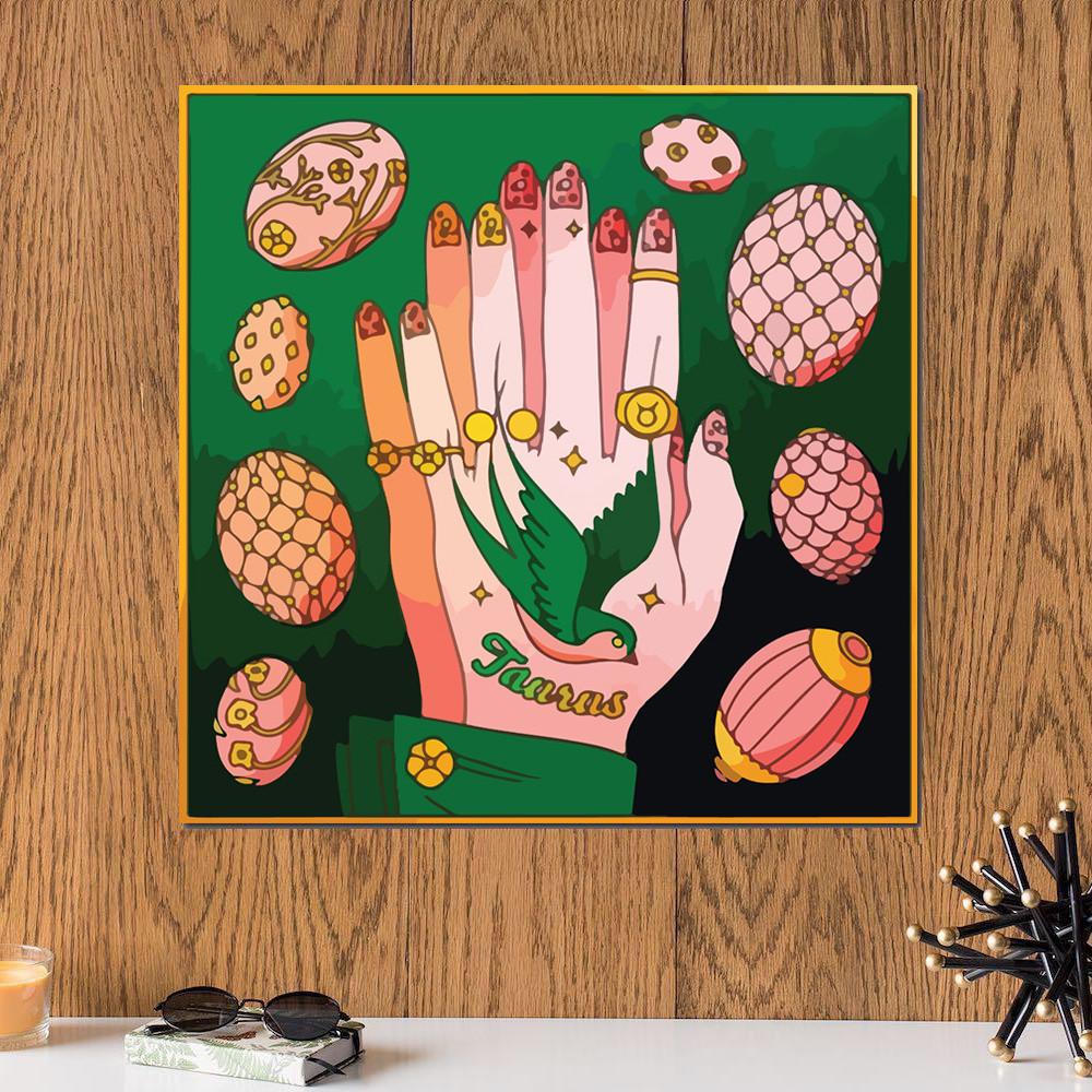 لوحة برج الثور خشب ام دي اف مقاس 30x30 سنتيمتر