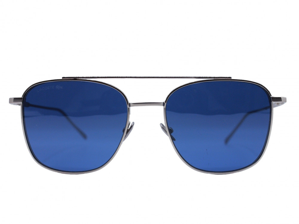 نظاره شمسية مربعه من ماركة LACOST لون العدسة ازرق للجنسين فاخرة 2021