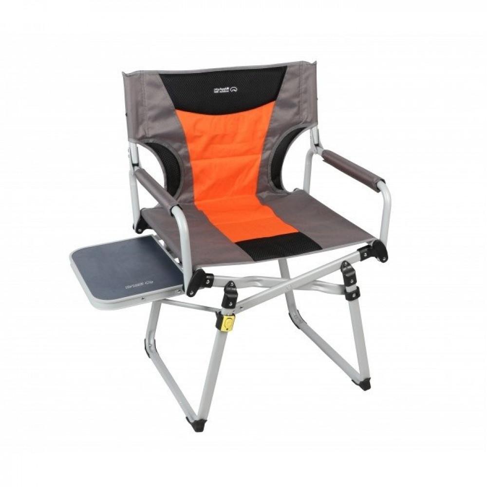 كرسي المخرجين رصاصي- برتقالي